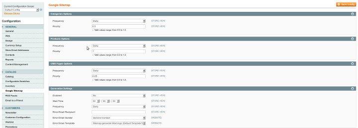 Génération automatique Fichier Sitemap
